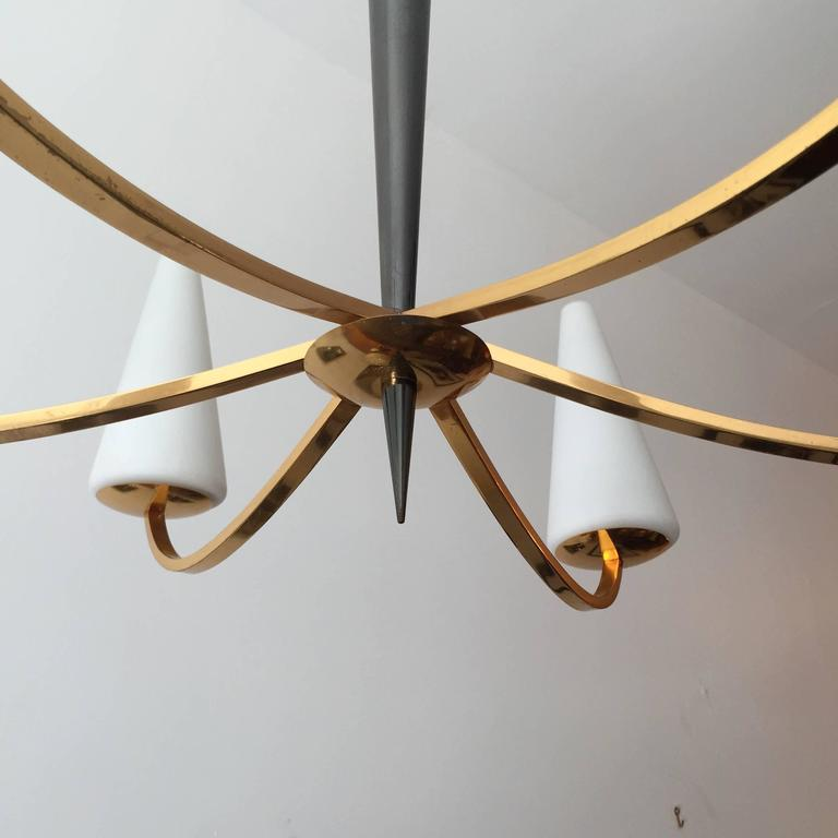 1960s French Lunel Modern Chandelier 3