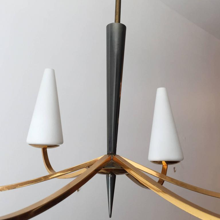1960s French Lunel Modern Chandelier 5