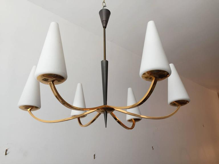1960s French Lunel Modern Chandelier 7