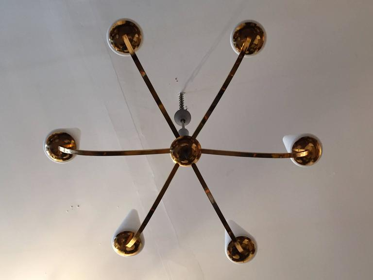 1960s French Lunel Modern Chandelier 8