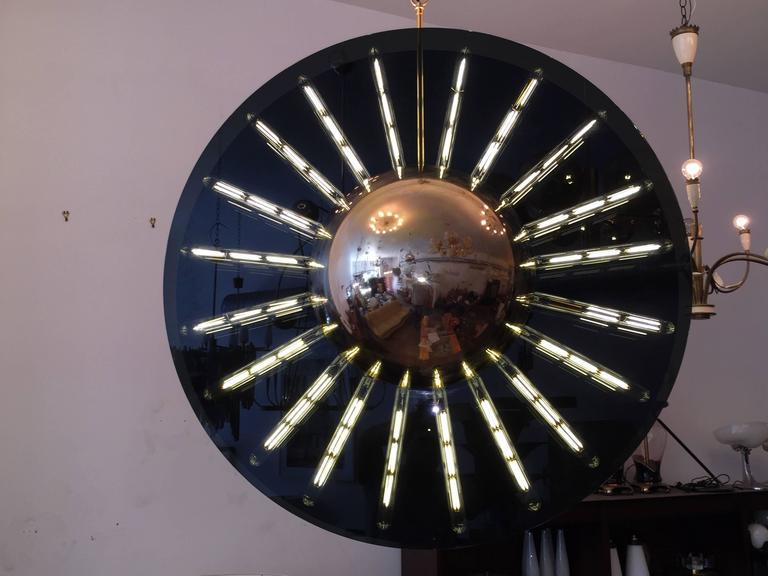 Brass Grand Saturno Pendant Chandelier For Sale
