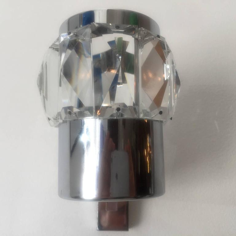 Pair of German 1960s Space Age Wall Lights For Sale at 1stdibs