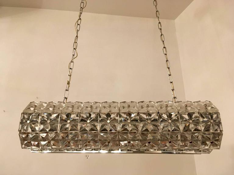 Kinkeldey Austrian Crystal 1960s Pendant Flush Light For Sale 3