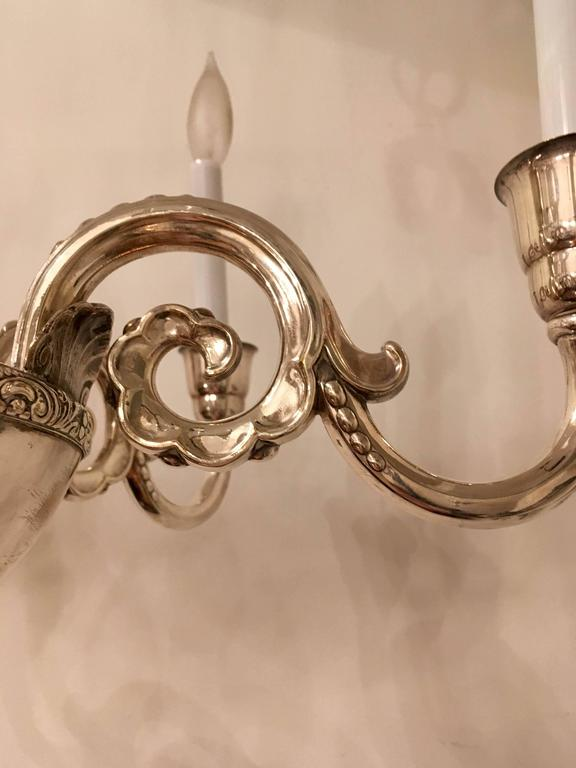 Swedish Silver 1920s Chandelier by Elis Bergh for CG Hallberg For Sale 4