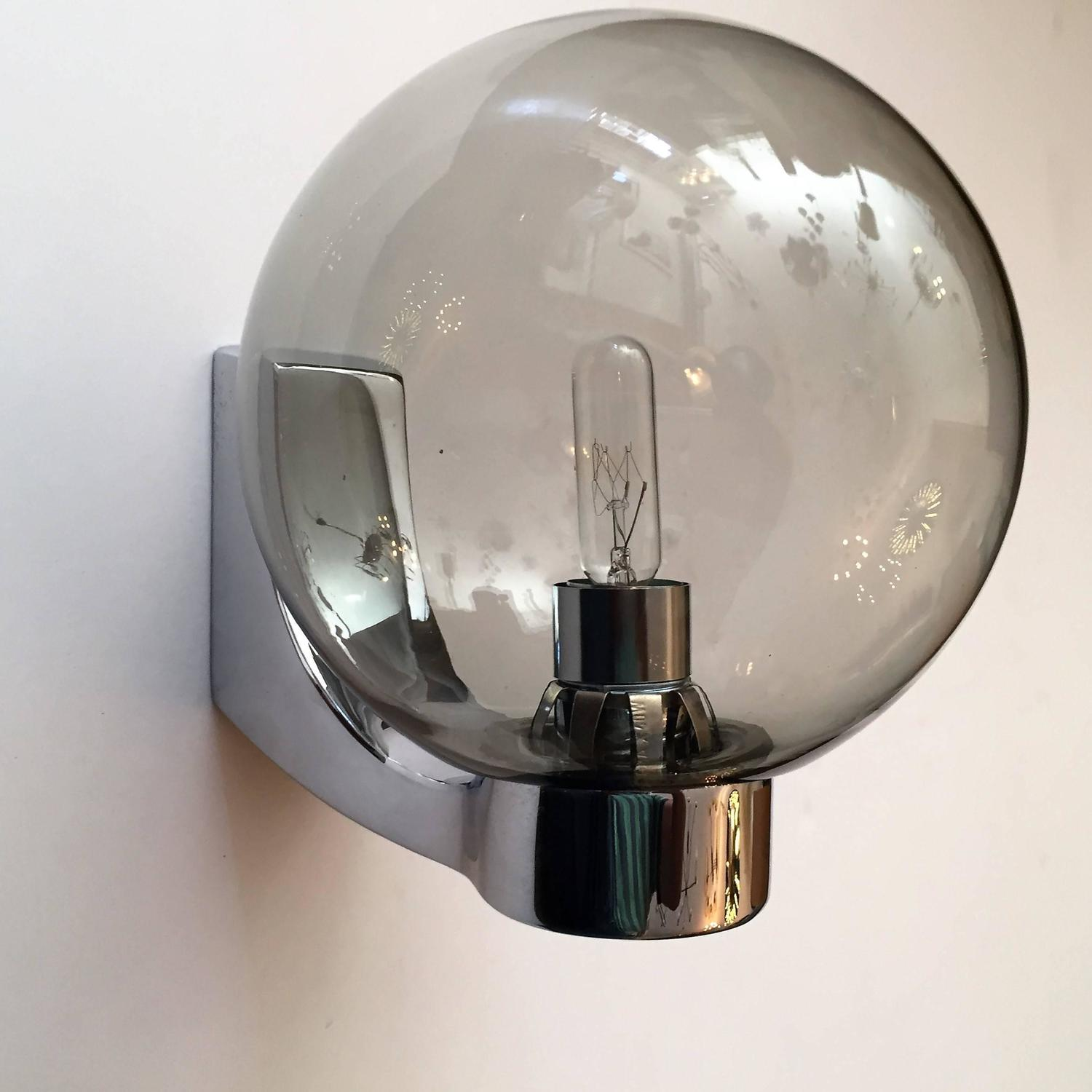 Set of Four Space Age German 1960s Wall Lights For Sale at 1stdibs