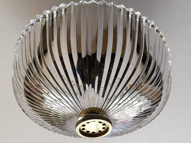 Mid-Century Modern Austrian Kalmar Crystal 1960s Flush Ceiling Light by Kerson Gallery For Sale