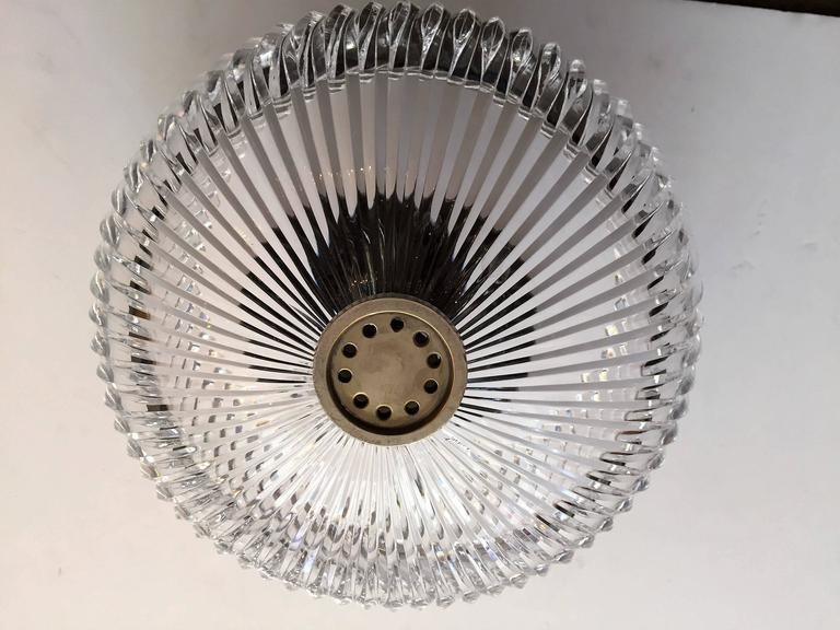 Austrian Kalmar Crystal 1960s Flush Ceiling Light by Kerson Gallery In Excellent Condition For Sale In New York, NY