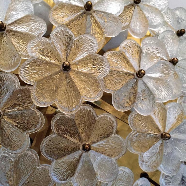 Extra Large Palme Glass Austrian 1960s Flush Ceiling Light 4