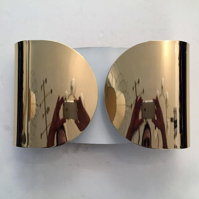 "Pair of Large Tobia Scarpa ""Foglio"" Wall Lights 5"