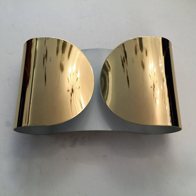 "Pair of Large Tobia Scarpa ""Foglio"" Wall Lights 6"