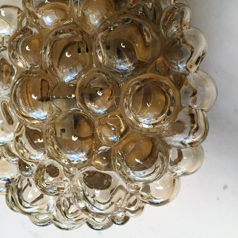 Pair of Limburg Glass Bubble Flush Ceiling Lights In Excellent Condition For Sale In New York, NY