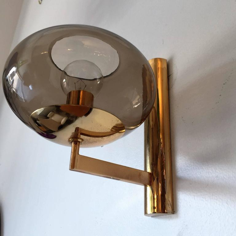 Pair of 1960s, Italian Sciolari Mid-Century Wall Lights In Excellent Condition For Sale In New York, NY