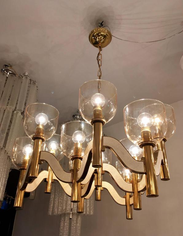 Sciolari High Style 1970s Italian Chandelier For Sale 3