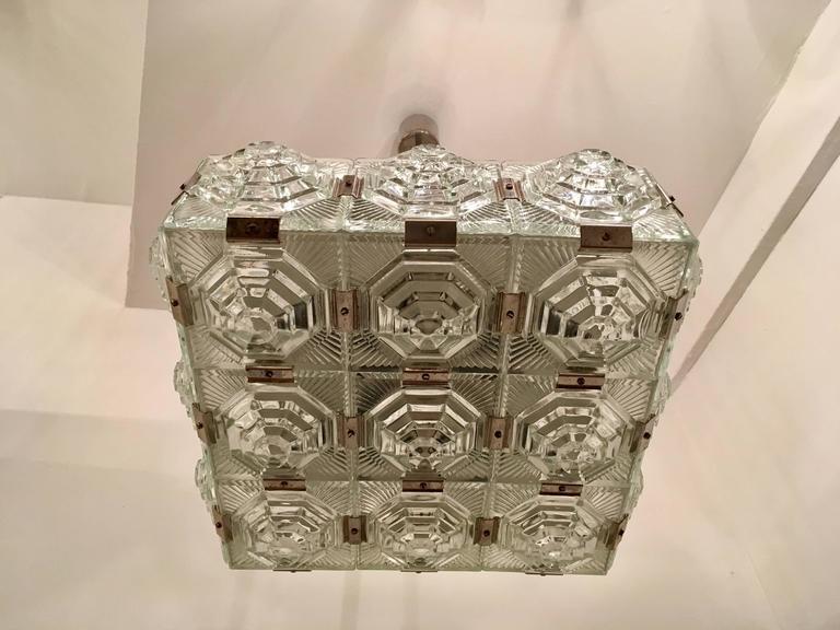 1960s Czech Kamenicky Senov Bohemian Glass Pendant 2