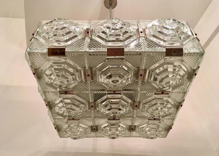 1960s Czech Kamenicky Senov Bohemian Glass Pendant 4