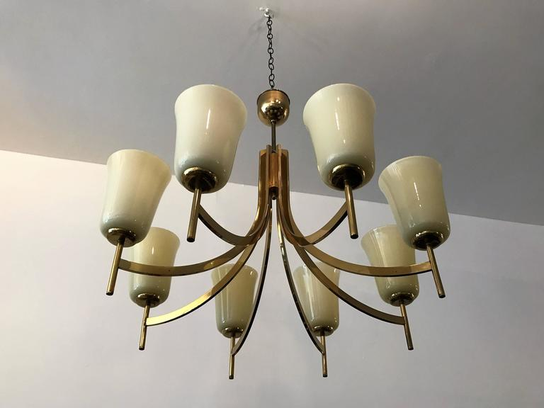 Large Swedish Chandelier, 1950s In Excellent Condition For Sale In New York, NY