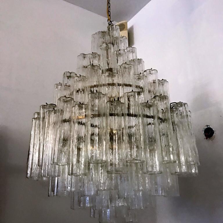 Mid-Century Modern Grand Ballroom Murano Glass 1970s Chandelier For Sale
