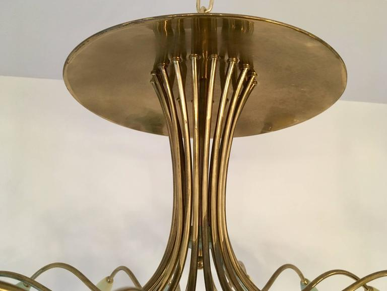 Large Italian Mid-Century Ragno, 1950s Sputnik Chandelier For Sale 1