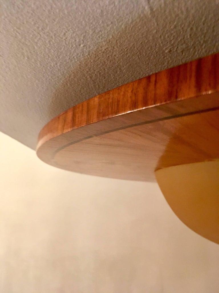 Large Swedish Art Deco Mjolby Intarsia 1920s Light For Sale 3