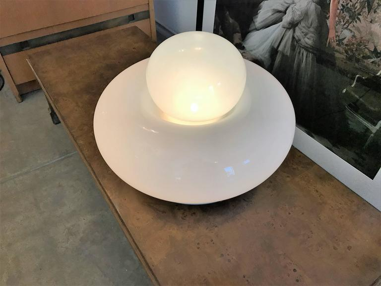 "Mid-Century Modern Large Gramigna for Artemide ""Electra"" 1968 Italian Glass Lamp For Sale"