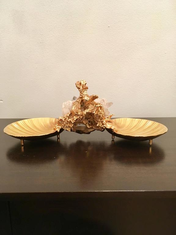 Yellow Gold Claude Victor Boeltz Centrepiece For Sale