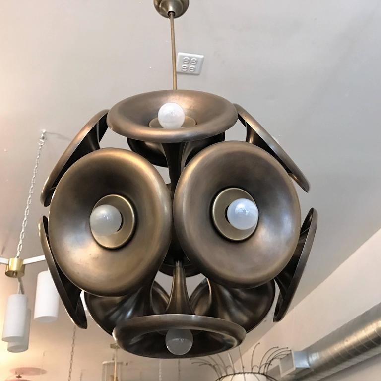 Italian 1960s Esperia Dandelion Sputnik Pendant 7