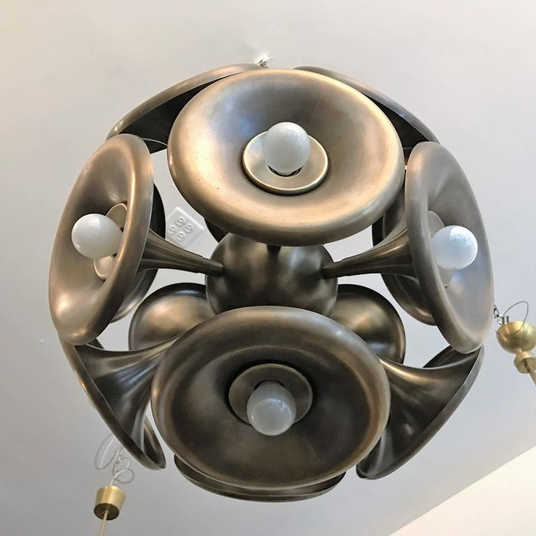 Italian 1960s Esperia Dandelion Sputnik Pendant 10