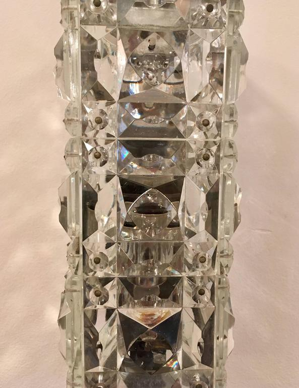 Pair of 1960s Austrian Crystal Kinkeldey Wall Lights For Sale 1
