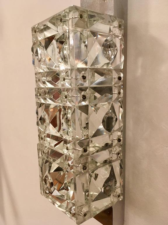Pair of 1960s Austrian Crystal Kinkeldey Wall Lights For Sale 2
