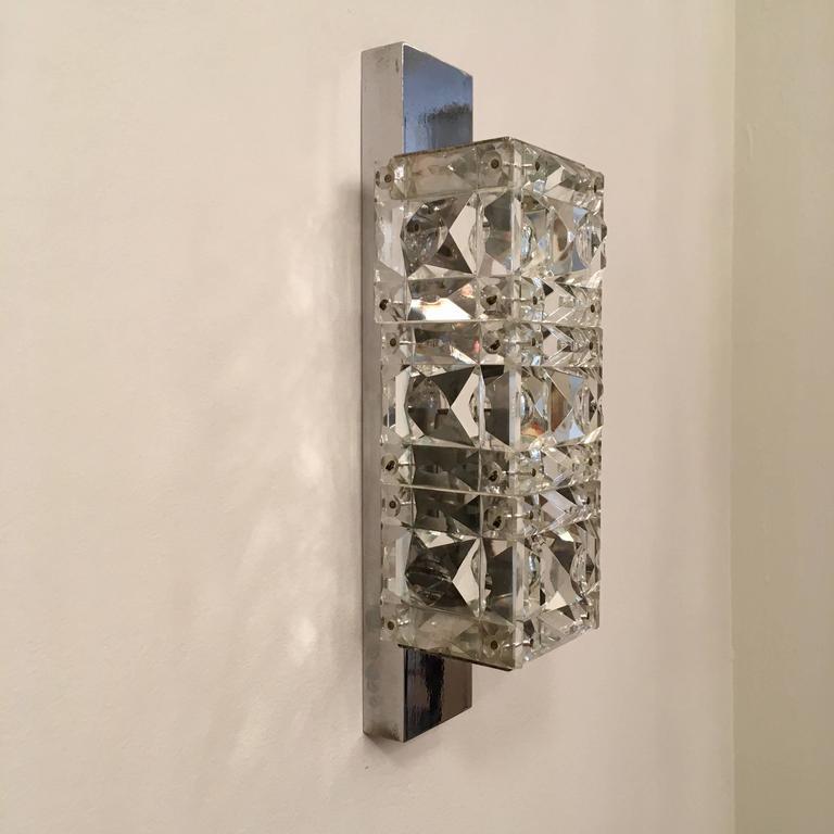 Pair of 1960s Austrian Crystal Kinkeldey Wall Lights For Sale 5