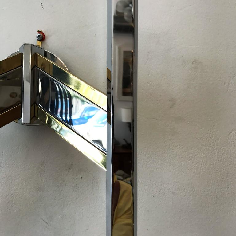 Mid-20th Century Large 1960s Space Age Sciolari Italian Wall Light For Sale