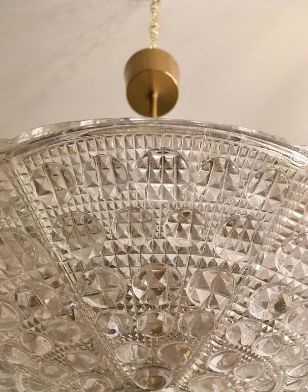 Pair of Fagerlund Orrefors Crystal Swedish Pendants For Sale 1