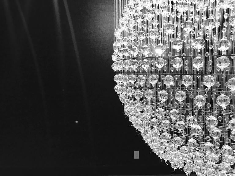 British Tom Dixon Swarovski Crystal Palace Chandelier For Sale