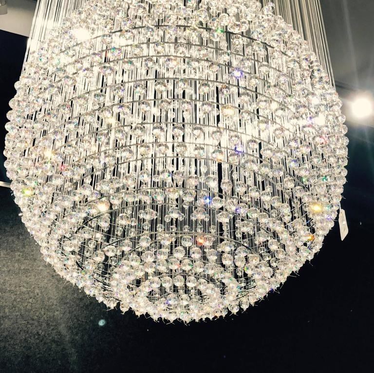 Contemporary Tom Dixon Swarovski Crystal Palace Chandelier For Sale