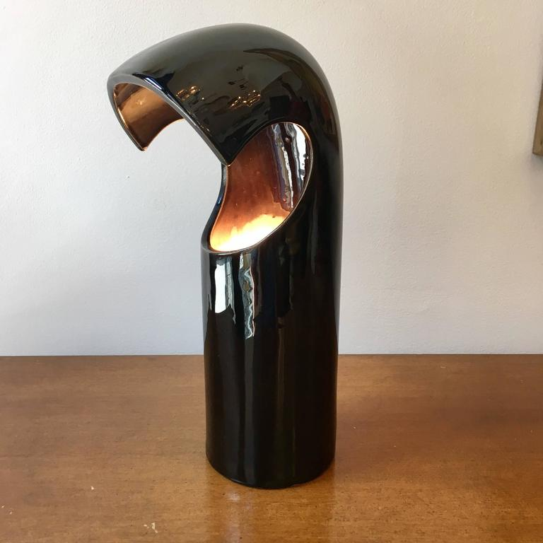 Space Age Italian 1960s Ceramic Table Lamp For Sale 2