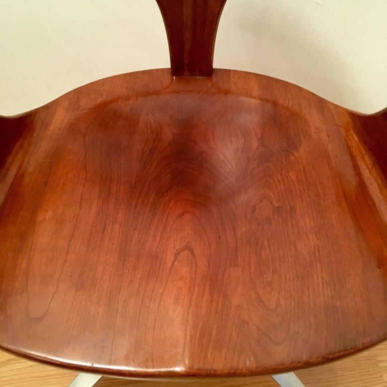 Four Heywood Wakefield Cliff House 1960s Hardwood Chairs 8