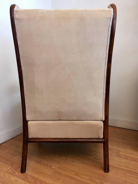 Austrian Gebruder Thonet Model 6541 Wing Chair For Sale