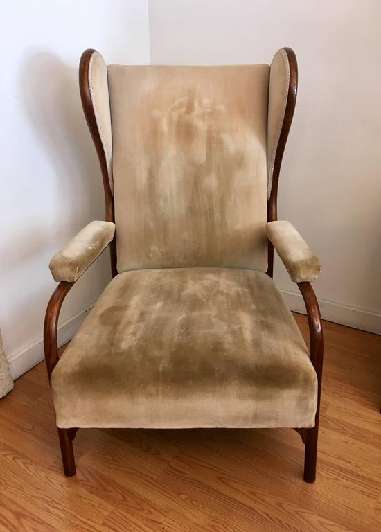 Gebruder Thonet Model 6541 Wing Chair In Excellent Condition For Sale In New York, NY