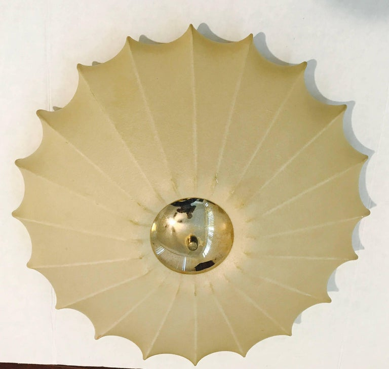 Castiglioni Italian Midcentury 1960s Sculptural Ceiling Wall Light 2