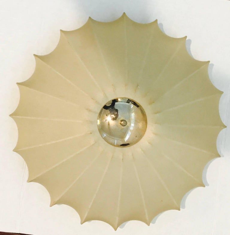 Castiglioni Italian Midcentury 1960s Sculptural Ceiling Wall Light 4