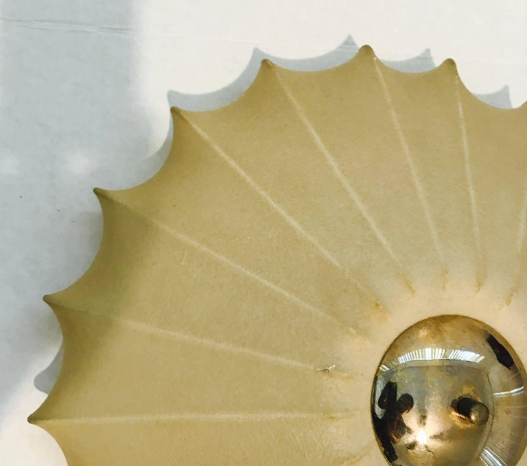 Castiglioni Italian Midcentury 1960s Sculptural Ceiling Wall Light 5