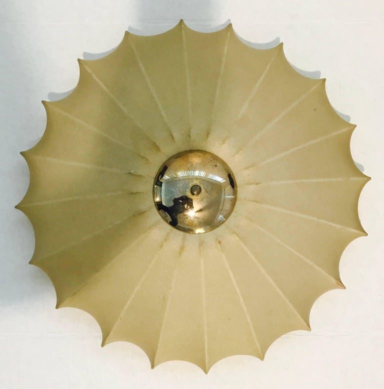 Castiglioni Italian Midcentury 1960s Sculptural Ceiling Wall Light 6