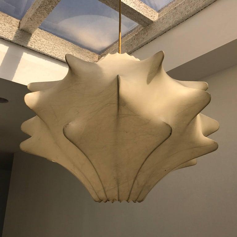 Achille Castiglioni Cocoon Pendant Lantern, 1960s In Excellent Condition For Sale In New York, NY