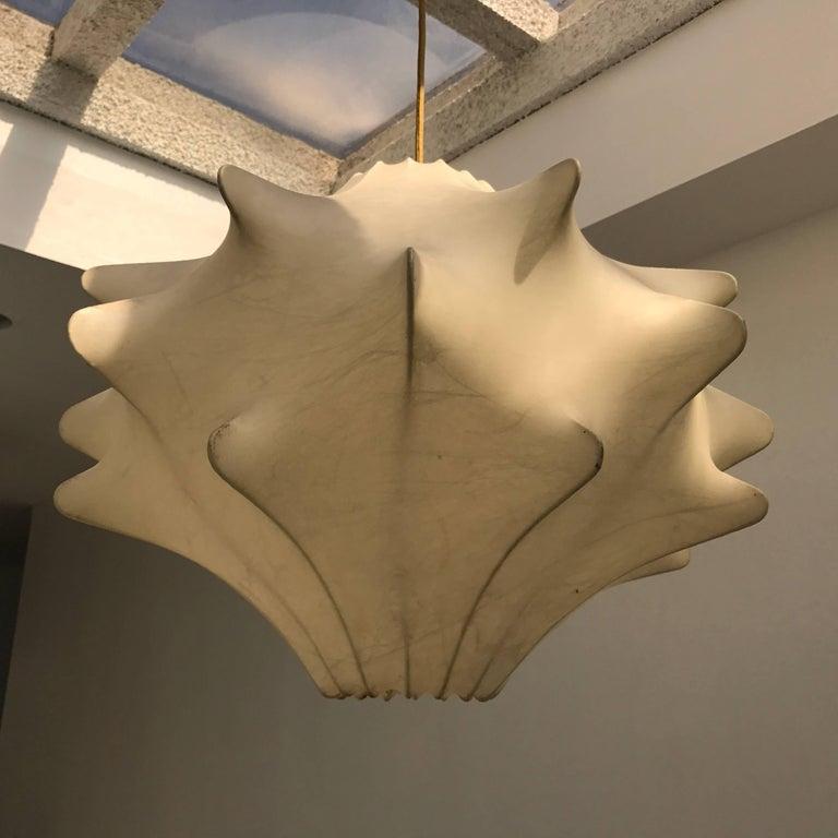 Brass Achille Castiglioni Cocoon Pendant Lantern, 1960s For Sale