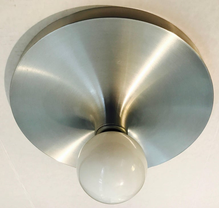 Honsel 1960s German Space Age Midcentury Flush Ceiling Wall Light 4