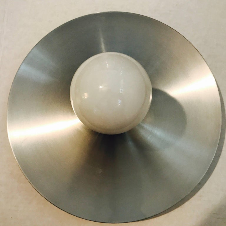 Honsel 1960s German Space Age Midcentury Flush Ceiling Wall Light 6