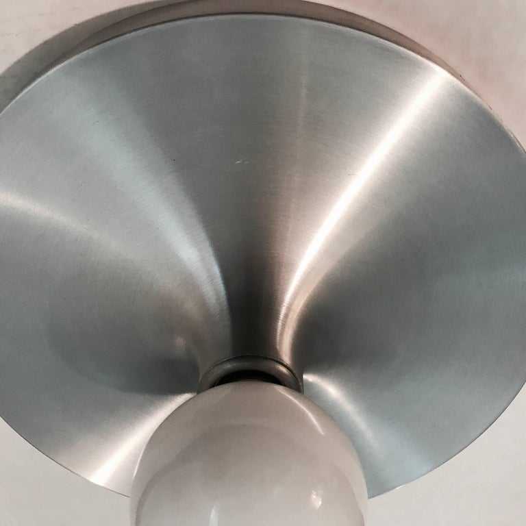 Honsel 1960s German Space Age Midcentury Flush Ceiling Wall Light 7