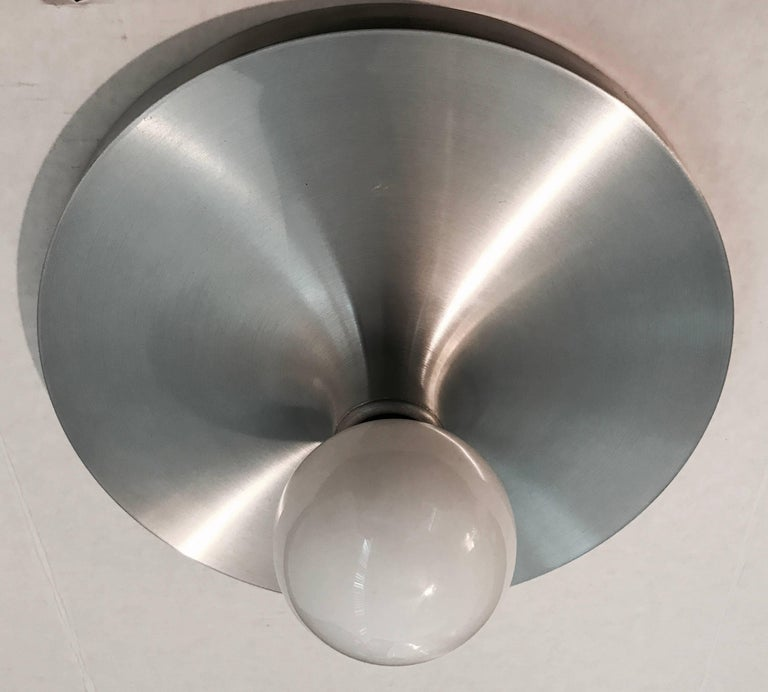 Honsel 1960s German Space Age Midcentury Flush Ceiling Wall Light 8