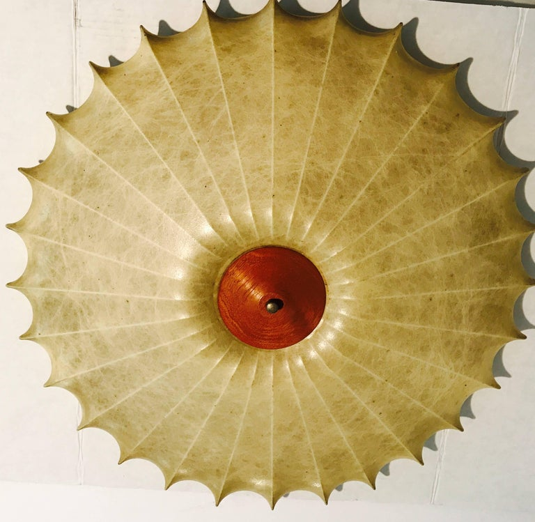 Brass Achille Castiglioni 1960s Italian Mid-Century Modern Sculptural Light  For Sale