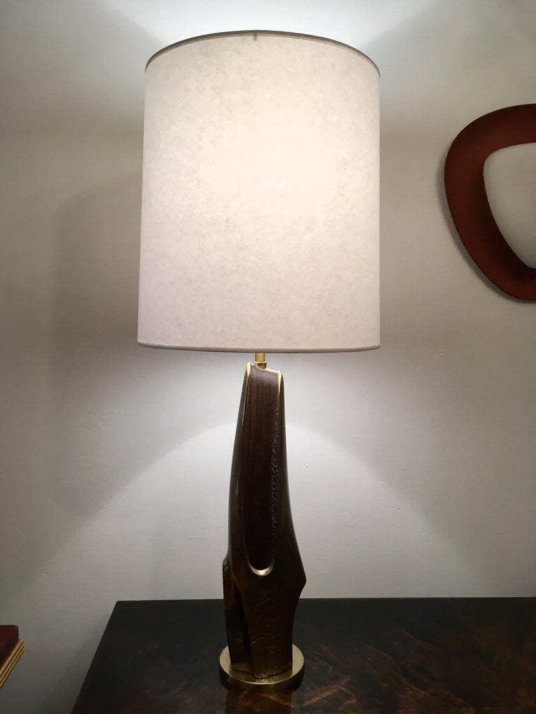 Pair of 1970s American Laurel Company Sculptural Table Lamps For Sale 2